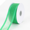 2.22cm Satin Edge Organza-Emerald Green