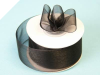 3.81 cm Organza Ribbon-Black