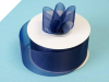 3.81 cm Organza Ribbon-Navy Blue