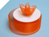 3.81 cm Organza Ribbon-Orange