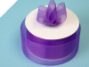 3.81 cm Organza Ribbon-Purple