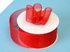 3.81 cm Organza Ribbon-Red