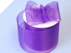 6.98cm Organza Ribbon-Purple