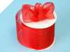 6.98cm Organza Ribbon-Red