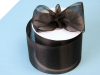 6.98cm Organza Ribbon-Black