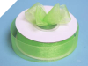2.22 cm Organza Ribbon-Apple Green