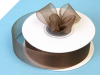 2.22 cm Organza Ribbon-Chocolate