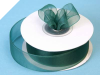2.22 cm Organza Ribbon-Hunter Green