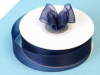 2.22 cm Organza Ribbon-Navy Blue