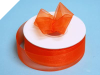 2.22 cm Organza Ribbon-Coral Orange
