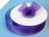 2.22 cm Organza Ribbon-Purple
