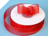 2.22 cm Organza Ribbon-Red