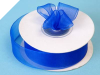 2.22 cm Organza Ribbon-Royal Blue