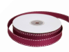 1.58cm Stitched Grosgrain - Burgundy