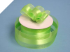 3.81cm Organza Satin Centre - Apple Green