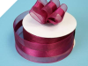 3.81cm Organza Satin Centre - Burgundy