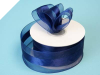 3.81cm Organza Satin Centre - Navy Blue
