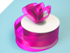 3.81cm Organza Satin Centre - Fuchsia/Hot Pink