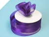 3.81cm Organza Satin Centre - Purple