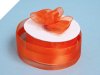 3.81cm Organza Satin Centre - Orange