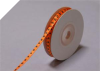 0.31 cm Satin Polka Dot - Orange