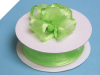2.22cm Wired Satin Edged Organza-Apple Green