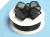 2.22cm Wired Satin Edged Organza-Black