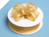 2.22cm Wired Satin Edged Organza-Gold