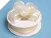 2.22cm Wired Satin Edged Organza-Ivory