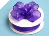 2.22cm Wired Satin Edged Organza-Purple