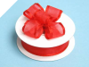 2.22cm Wired Satin Edged Organza-Red