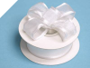 2.22cm Wired Satin Edged Organza-White