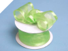3.81cm Wired Satin Edged Organza - Apple Green