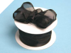 3.81cm Wired Satin Edged Organza - Black