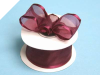 3.81cm Wired Satin Edged Organza - Burgundy