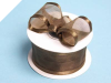 3.81cm Wired Satin Edged Organza - Chocolate