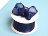 3.81cm Wired Satin Edged Organza - Navy