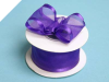 3.81cm Wired Satin Edged Organza - Purple