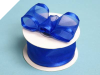 3.81cm Wired Satin Edged Organza - Royal