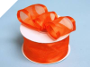 3.81cm Wired Satin Edged Organza - Orange
