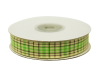 1.58cm Plaid Ribbon - Apple Green