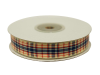 1.58cm Plaid Ribbon - Navy Blue