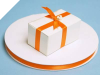 0.95 cm Satin Ribbon-Orange