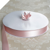2.22 cm Satin Ribbon-Blush