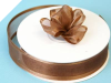2.22cm Satin Edge Organza-Chocolate