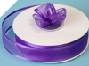 2.22cm Satin Edge Organza-Purple