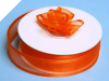 2.22cm Satin Edge Organza-Coral Orange