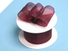 3.81cm Wired Organza-Burgundy