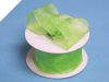 3.81cm Wired Organza-Apple Green