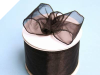 6.35cm x 22.86metres Wired Organza - Black